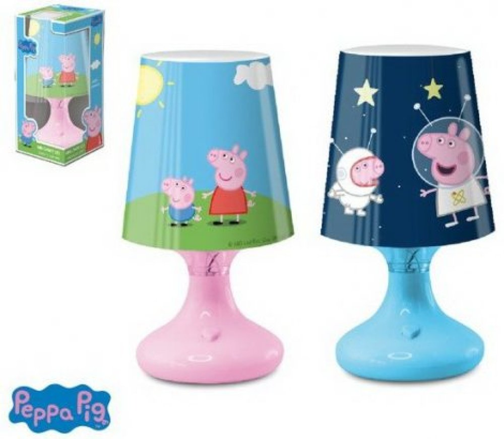 Peppa pig led lampe nachttisch schreibtisch disney kinder for Nachtkast lampje